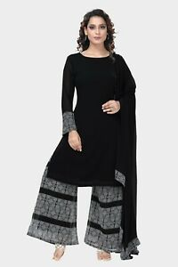 Pakistani Indian Readymade Casual Print Palazzo Suit/ Shalwar Kameez Size L, XS