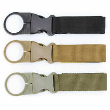 4Pc Camping Travel Tactical Nylon Buckle Water Bottle Belt Holder Clip Carabiner