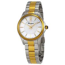 Ferragamo Time Silver Dial Two-tone Ladies Watch FFV050016
