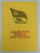 Gedenkblatt: X. Parteitag Alles zum Wohle des Volkes + Briefmarken 1981 g, so176