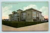 Hibbing, MN - EARLY 1900s STREET SCENE VIEW OF WASHINGTON SCHOOL - POSTCARD - M7