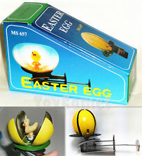 MS657 Vintage Duck in Shell Easter Egg Retro Wind-Up Spinning Tin Toy