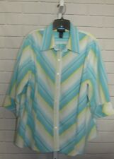 Women's Lane Bryant Blouse/ Shirt  3/4 Sleeves Button Up  Size 22/ 24