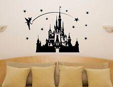Disney castillo hadas Princesa Campanilla Estrellas Adhesivo de pared decorativo