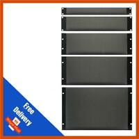 "DY Pro Audio | 19"" Mesh/Vented Solid Steel Rack Blanking Panel/Plate | 1/2/3/4U"