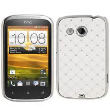 Hardcase Bling Diamond für HTC Wildfire C Schutzhülle in weiß Case Hülle Cover