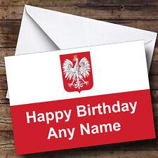 Polish Flag Poland Personalised Birthday Greetings Card