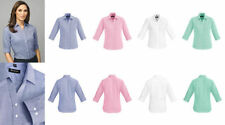 Career 3/4 Sleeve Machine Washable 100% Cotton Tops & Blouses for Women