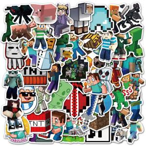50Pcs My World Game Stickers Bomb Graffiti Decals Laptop Car Luggage Skateboard
