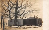 Real Photo Postcard Rustic Huts Homes Shacks Sheds in Cleveland, Ohio~111566