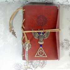 Leather Notebook Journal Harry Potter Deathly Hallows Owl Steampunk