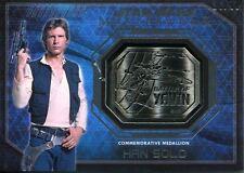 Star Wars Masterwork 2016 Silver Yavin Medallion Card [99] Han Solo
