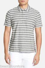 NWT $148 Jack Spade Beale Polo Short Sleeve Shirt in Greystripe sz L