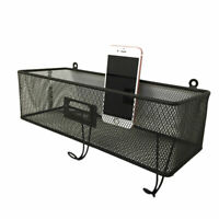 US Metal Wire Basket Wall Mount Book Key Mail Rack Holder Home Storage case