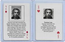 BOTH STARZ BEHIND BARZ ~ TOMMY LEE PLAYING CARDS LOT ~ MUG SHOT ~ MOTLEY CRUE