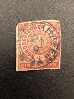 1868 North German Confederation 1gr Ein Groschen Norddeutscher Postbezrik # 4 ES