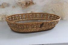 Ancienne panière à pain en osier tressé - Vintage - Panier de table