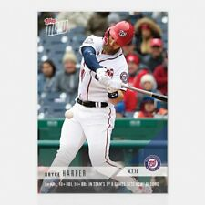 2018 TOPPS NOW #47 5+ HRS, 10+ RBI, 10+ BBS IN 1ST 8 GAMES RECORD - BRYCE HARPER