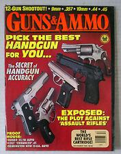 GUNS & AMMO HANDGUN FIREARMS RIFLES MAGAZINE 9MM 45 1992 DECEMBER .357 MAGNUM