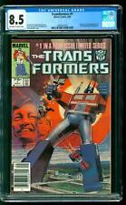 Transformers 1 CGC 8.5 VF+ Origin & 1st app the Autobots & Decepticons Marvel