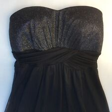 SWEET STORM strapless babydoll cocktail/prom dress - size small - black sparkle