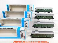 CO572-1# 4x Märklin H0/AC Gepäck-/Personenwagen DB: 4100+4101+4102+4103, TOP+OVP