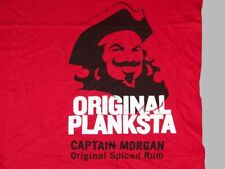 Captain Morgan vintage original planksta spiced rum red T-shirt L - NEW