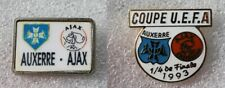 2 Pins Football UEFA . Auxerre / Ajax Amsterdam . 1993