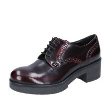 women's shoes GESTE 6 (EU 39) elegant burgundy leather BR102-39