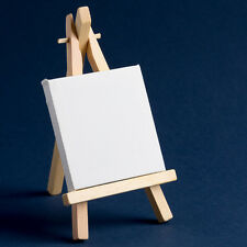 Wooden Easel 16cm with Mini Canvas 7.5cm x 7.5cm Artist Display Sign Weddings