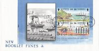 (45412) GB FDC Alderney FDC Garrison Island II Booklet Pane - 10 November 1998