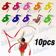 10pcs Gym Ribbon Stick Gymnastic Streamer Twirling Rod Rhythmic Dance 4m