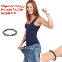 Biomagnetism Magnetic Round Black Stone Magnetic Bracelet Health Care Bracelet