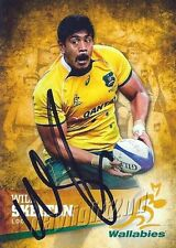 ✺Signed✺ 2016 WALLABIES Rugby Union Card Card WILL SKELTON