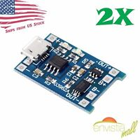 2pcs 5V 1A Micro USB 18650 Lithium Battery TP4056 DW01A Charger Board Module