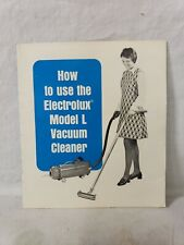 VINTAGE ELECTROLUX MODEL L CANISTER VACUUM CLEANER OWNERS MANUAL 1974 T
