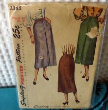 40s Simplicity Straight skirt sewing Pattern 2383 28 waist