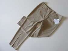 NWT Ellen Tracy 'Betty' in Khaki Beige Straight Fit Stretch Slim Ankle Pant 10