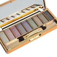 9 Colors Shimmer Eyeshadow Eye Shadow Palette & Makeup Cosmetic Brush Set