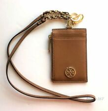 fe10a9e43c41 NWT Tory Burch 36909 Saffiano Leather Lanyard ID Credit Card Holder -Tiger  Eye