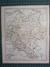 1887 ANTIQUE MAP ~ RUSSIA IN EUROPE FINLAND GREAT RUSSIA CAUCASIA ASTRAKHAN
