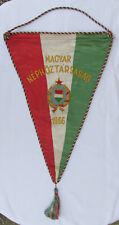 VINTAGE SOCCER FOOTBALL PENNANT HUNGARY 1966 FEDERATION ASSOCIATION 51x31cm!!