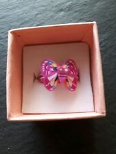 Brand new childs pink butterfly ring! UK size K! Kids childrens gift!