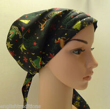Christmas Cancer Chemo Hat Hairloss Alopecia Cotton Scarf Turban Head Wrap Cover