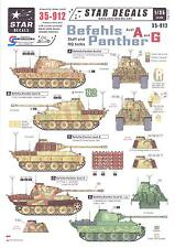 Star Decals 1/35 BEFEHLS PANTHER Staff and Headquarters Tanks