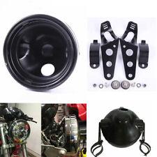 "Motorcycle 7"" Inch HeadLight Lamp Bulb Bucket Housing with bracket"