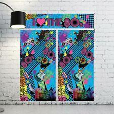 6ft 80s Backdrop Set Scene Setter Photo Selfie Background Love Retro Neon Rave