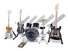 Mini live set PINK FLOYD tribute 1:4 miniature drum guitar david gilmour gadget
