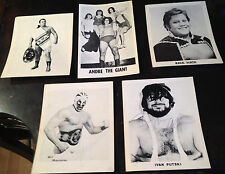 Wrestling Legends From Around the World 5x7 Pictures: Two Signed