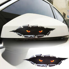 Auto Car Window 3D Creative Simulation Monster Leopard Eye Peeking Sticker Decal